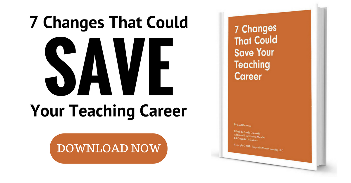 7 Changes That Could Save Your Teaching Career - Free Ebook Download