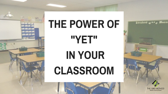 The Power of YET In Your Classroom