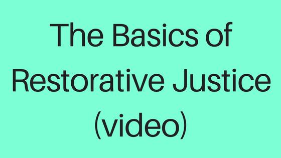 The Basics of Restorative Justice (video)-2