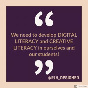Quote on digital literacy and creative literacy