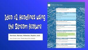 Headlines Thinking Routine on Padlet