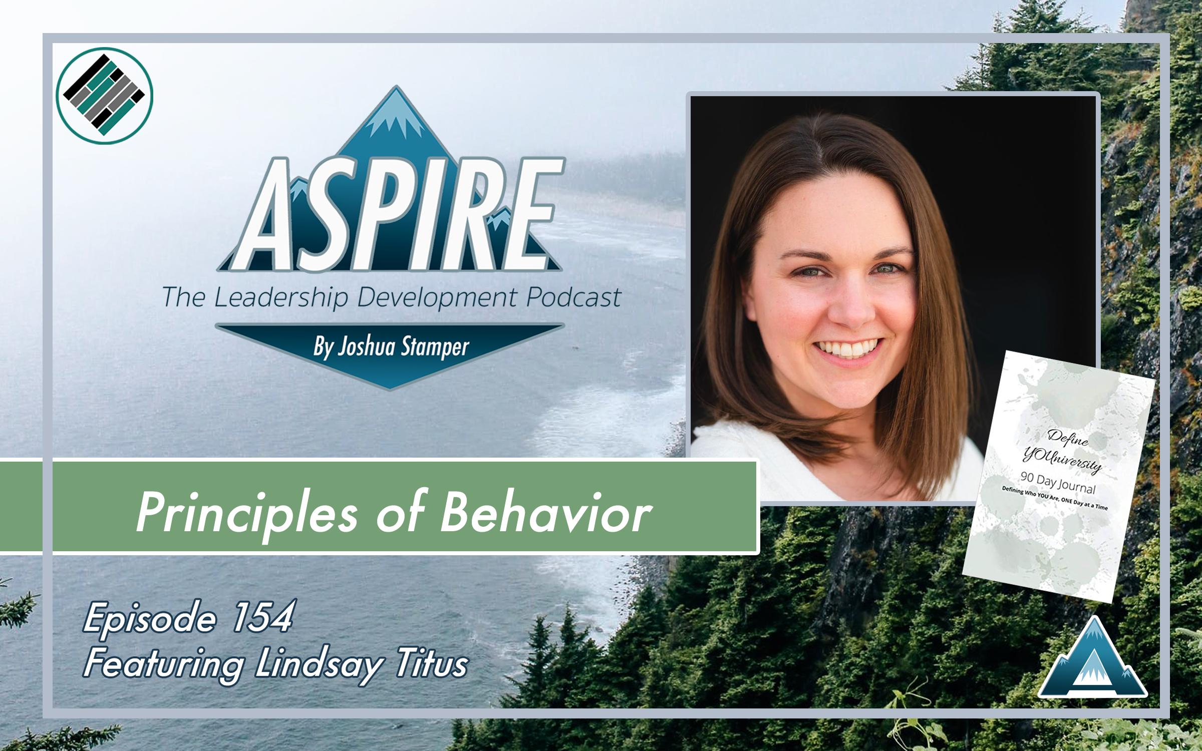 Joshua Stamper, Lindsay Titus, Aspire: The Leadership Development Podcast, Define YOUniversity, Teach Better