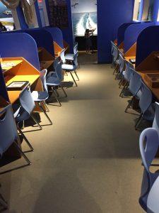 Submarine Styled Reading Center